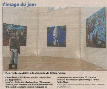 Actualit et news de patrick moya ses expositions en cours for Miroir 2mx2m