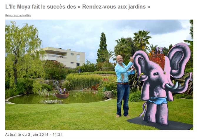 Moya sculptures en acier r sine bronze bois papier for Rendez vous au jardin